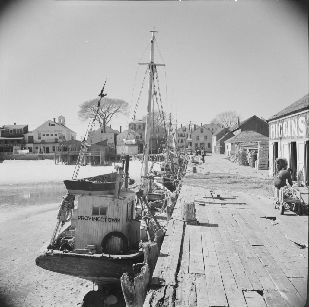 provincetown-fishing-boats-&-pier-1944, Cape Cod, MA