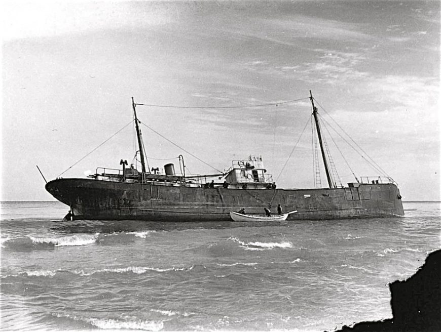 Canadian Ship Lutzen wrecked off of Nauset, Cape Cod 1939